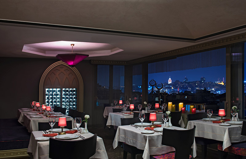 OLIVE ANATOLIAN RESTAURANT - Dinning Room/Vine Cellar with Galata Tower View